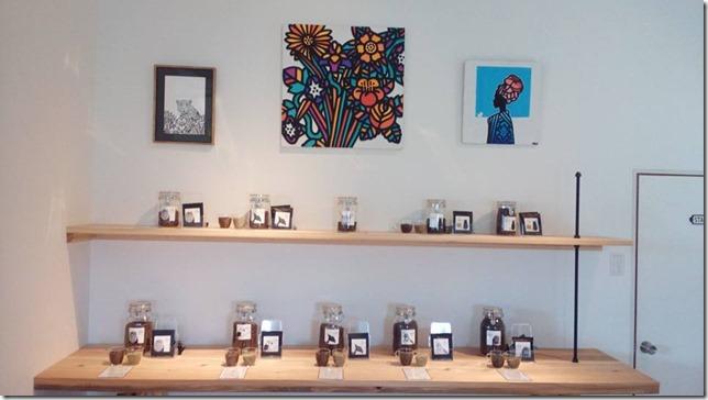 コーヒー豆の棚