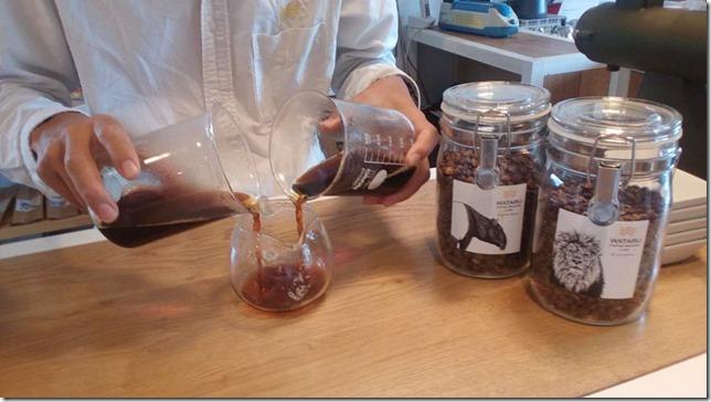 ブレンドコーヒー実験